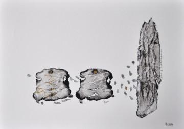 Nr. 1, 30 x 40 cm, MIschtechnik auf Papier, 2014