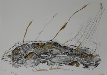 Nr. 38, 30 x 40 cm, Mischtechnik auf Papier, 2011