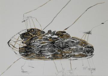 Nr. 3, 30 x 40 cm, Mischtechnik auf Papier, 2012