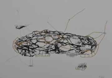 Nr. 17, 30 x 40 cm, Mischtechnik auf Papier, 2012