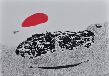 Nr. 27, 30 x 40 cm, Mischtechnik auf Papier, 2012