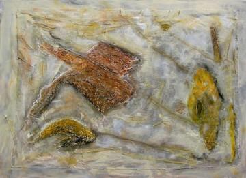 Kokon, 75 x 100 cm, Mischtechnik auf Leinen auf Holz, 2006