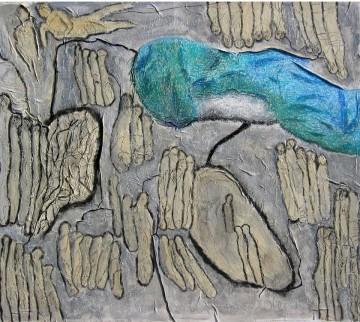 Legato II, 110 x 125 cm, Mischtechnik auf Leinen auf Leinwand, 2007