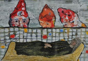 Nr. 16, 10,5 x 14,8 cm, Mischtechnik, Pappe, 2011