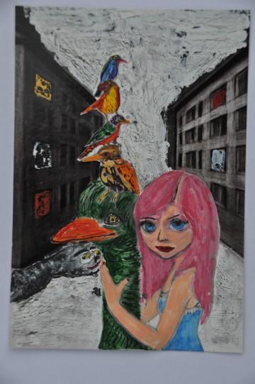 Nr. 23, 10,5 x 14,8 cm, Mischtechniik auf Pappe, 2011