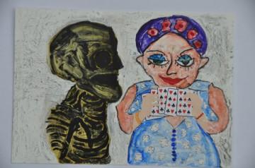 Nr. 25, 10,5 x 14,8 cm, Mischtechniik auf Pappe, 2011