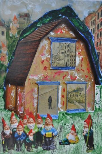 Nr. 29, 10,5 x 14,8 cm, Mischtechniik auf Pappe, 2011