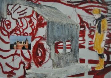 Nr. 34, 10,5 x 14,8 cm, Mischtechniik auf Pappe, 2011