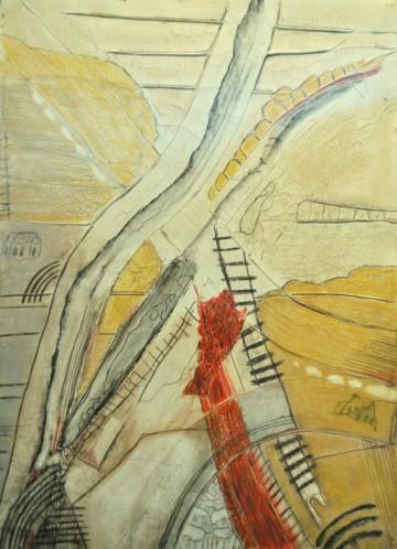 Nr. 11, 53 x 39 cm, Mischtechnik auf Papier, 2010
