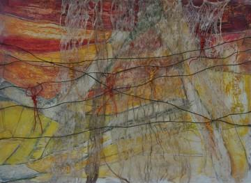 Nr.1, 56 x 78 cm, Mischtechnik auf Papier, 2011