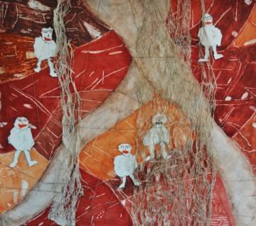 Nr. 2, 90 x 100 cm, Mischtechnik auf Holz, 2011