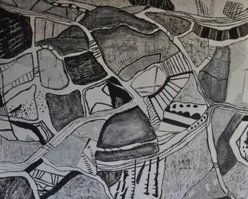 Nr. 6, 90 x 110 cm, Mischtechnik auf Holz, 2011