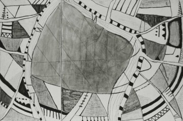 Nr. 3, 80 x 120 cm, Mischtechnik auf Leinwand, zweiteilig, 2012