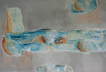 Portato II, 75 x 115 cm, Mischtechnik auf Leinwand, 2008