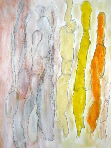 Portugiesische Wandlungen, 32 x 24 cm, Mischtechnik auf Papier, 2006